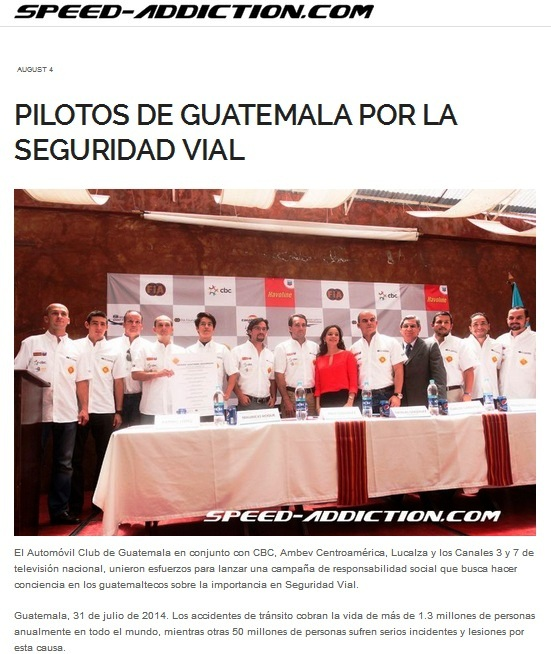 Pilotos de GuatemalaSpeed addiction04.08.2014